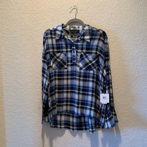 NWT, Laundry by Shelli Segal plaid top, size 6
